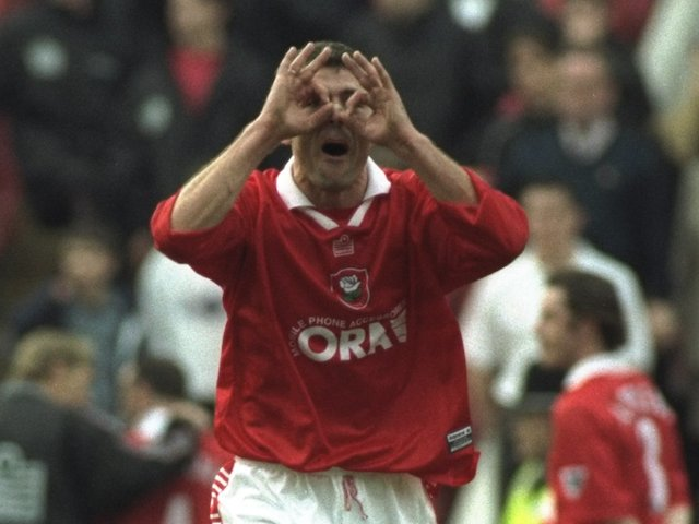 Jovo Bosancic of Barnsley during the FA Carling Premiership match against Liverpool at Oakwell on March 28, 1998
