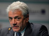 Former England football manager Kevin Keegan speaks during the Soccerex European Forum in Manchester, north-west England on April 11, 2013