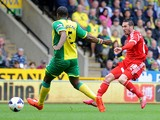 Morgan Amalfitano of West Bromwich Albion scores the opening goal during the Barclays Premier League match between Norwich City and West Bromwich Albion at Carrow Road on April 05, 2014