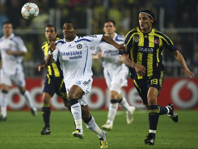 Florent Malouda in action for Chelsea against Fenerbahce on April 02, 2008.