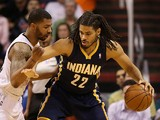 Chris Copeland #22 of the Indiana Pacers handles the ball against the Phoenix Suns during the NBA game at US Airways Center on January 22, 2014