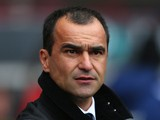 Roberto Martinez the manager of Everton looks on during the Barclays Premier League match between Sunderland and Everton at Stadium of Light on April 12, 2014