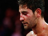 Frank Buglioni looks dejected after being defeated by Sergey Khomitsky during their WBO European Super-Middleweight Championship bout at The Copper Box on April 12, 2014