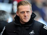 Swansea manager Garry Monk prior to kick-off against Chelsea in the Premier League match on April 13, 2014