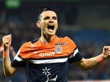 Montpellier's French midfielder Remy Cabella celebrates after scoring a goal on April 11, 2014