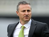 Neil Adams manager of Norwich City looks on prior to the Barclays Premier League match between Fulham and Norwich City at Craven Cottage on April 12, 2014