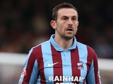 Scunthorpe's Paul Hayes in action against Northampton during the League Two match on March 8, 2014