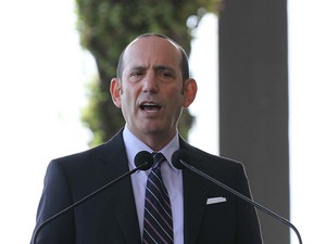 Commissioner Don Garber attends a press conference to announce their plans to launch a new Major League Soccer franchise at PAMM Art Museum on February 5, 2014