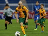Dylan Tombides of Australia in action during the AFC U-22 Championship Group C match between Australia and Kuwait at Royal Oman Police Stadium on January 12, 2014