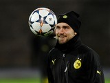 Borussia Dortmund's defender Marcel Schmelzer attends a training sessionin Russia's second city of Saint Petersburg, on February 24, 2014