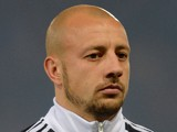 Alan Hutton of Scotland during the FIFA 2014 World Cup Qualifying Group A match between Scotland and Croatia at Hampden Park on October 15, 2013