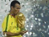 Brazil full-back Cafu lifts the World Cup on June 30, 2002.