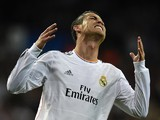 Real Madrid's Portuguese forward Cristiano Ronaldo reacts during the UEFA Champions League semifinal first leg football match Real Madrid CF vs FC Bayern Munchen at the Santiago Bernabeu stadium in Madrid on April 23, 2014