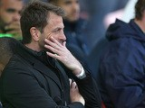 Tottenham manager Tim Sherwood watches his team against Stoke during the Premier League match on April 26, 2014