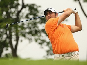 Alexander Levy in action during round two of the 2014 Volvo China Open on April 25, 2014