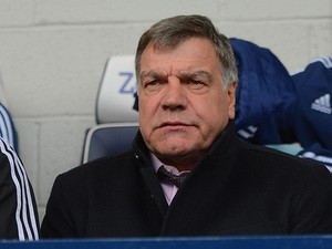 West Ham's Sam Allardyce prior to kick-off against West Brom in the Premier League match on April 26, 2014