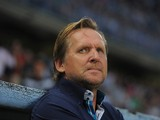 Malaga FC head coach Bernd Schuster looks on during the La Liga match between Malaga CF and FC Barcelona at La Rosaleda Stadium on August 25, 2013