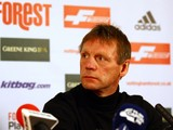 Stuart Pearce speaks to members of the media during a press conference after being unveiled as the new Nottingham Forest Manager at the City Ground on April 03, 2014