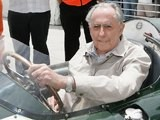 Australian motor racing ace Sir Jack Brabham poses prior to setting out onto the track at the New Zealand A1 Grand Prix at Taupo Race Track on January 20, 2007
