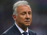 Japan head coach Alberto Zaccheroni stands on the touchline during his side's match against Cyprus on May 27, 2014.