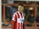 Eliot Richards of Exeter City in action during the Sky Bet League Two match between Exeter City and Northampton Town at St James' Park on March 11, 2014
