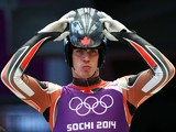 John Fennell of Canada prepares before a men's luge training session ahead of the Sochi 2014 Winter Olympics at the Sanki Sliding Center on February 5, 2014