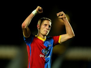 Dean Moxey of Crystal Palace celebrates victory after the Barclays Premier League match between Hull City and Crystal Palace at KC Stadium on November 23, 2013