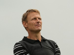 Former footballer Teddy Sheringham in action during the Pro-Am ahead of the BMW PGA Championship at Wentworth on May 21, 2014