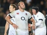 England's Chris Robshaw looks on dejected following his side's defeat to New Zealand on June 07, 2014.