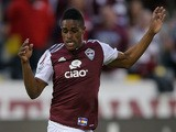 Deshorn Brown #26 of the Colorado Rapids controls the ball against the Montreal Impact at Dick's Sporting Goods Park on May 24, 2014
