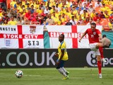 Rickie Lambert of England scores their second goal during the International friendly match between England and Ecuador at Sun Life Stadium on June 4, 2014