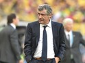 Greece's Portuguese coach Fernando Santos is pictured during a group C football match between Colombia and Greece at the Mineirao Arena in Belo Horizonte during the 2014 FIFA World Cup on June 14, 2014