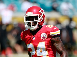 Brandon Flowers #24 of the Kansas City Chiefs warms up priorto the game against the Jacksonville Jaguars at EverBank Field on September 8, 2013
