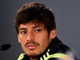 David Silva of Spain faces the media during a Spain press conference at Centro de Entrenamiento do Caju on June 21, 2014