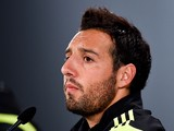 Santi Cazorla of Spain faces the media during a Spain press conference at Centro de Entrenamiento do Caju on June 20, 2014