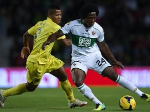 Elche's Carlos Sanchez in action against Villarreal on November 04, 2013.
