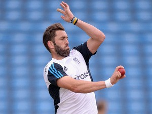 Liam Plunkett of England bowls during a nets session at Headingley on June 19, 2014