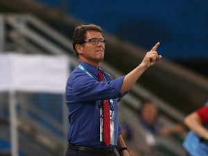 Head coach Fabio Capello of Russia gestures during the 2014 FIFA World Cup Brazil Group H match between Russia and South Korea at Arena Pantanal on June 17, 2014
