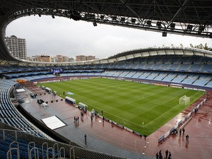 General view of the Anoeta Stadium, home of Real Sociedad de Futbol taken before a UEFA Champions League group stage match on September 17, 2013