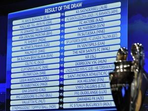 The results of the draw for the first and second qualifying rounds of the Champions League on June 23, 2014.