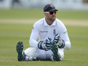 Matt Prior of England during day three of 2nd Investec Test match between England and Sri Lanka at Headingley Cricket Ground on June 22, 2014