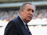 Aston Villa manager Gerard Houllier ahead of the Barclays Premier League match between Aston Villa and Newcastle United at Villa Park on April 10, 2011