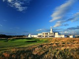The par 4, 18th hole at The Royal Birkdale Golf Club on August 23, 2012