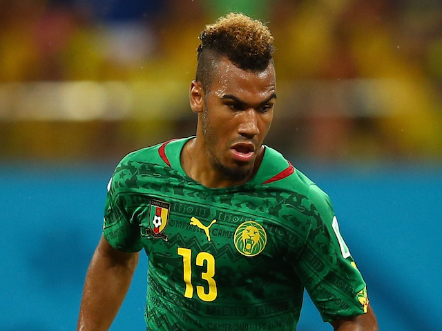 Eric Maxim Choupo-Moting of Cameroon controls the ball during the 2014 FIFA World Cup Brazil Group A match between Cameroon and Croatia at Arena Amazonia on June 18, 2014