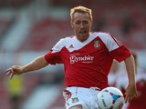 Brett Ormerod of Wrexham AFC controls the ball during the Pre Season Friendly match between Wrexham AFC and Wolverhampton Wanderers at Racecourse Ground on July 16, 2013