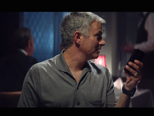 Jose Mourinho in a new ad for BT Sport