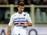 Gaetano Berardi of UC Sampdoria in action during the Serie A match between ACF Fiorentina and UC Sampdoria at Stadio Artemio Franchi on November 10, 2013