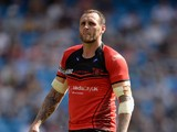 Gareth Hock of Salford Red Devils during the Super League match between Widnes Vikings and Salford Red Devils at Etihad Stadium on May 17, 2014