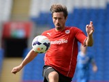 Tommy Smith of Cardiff City in action during the Pre Season Friendly match between Cardiff City and Athletic Club de Bilbao at the Cardiff City Stadium on August 10, 2013