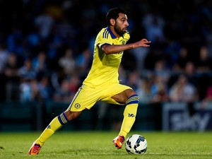 Mohamed Salah of Chelsea in action duing the pre season friendly match between Wycombe Wanderers and Chelsea at Adams Park on July 16, 2014